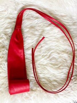 ceinture à nouer rouge