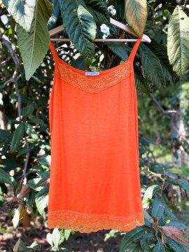 Caraco dentelle - mandarine