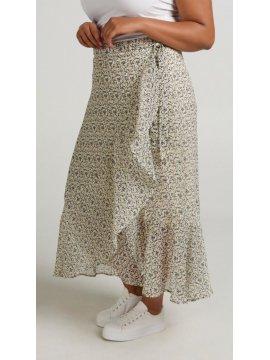 Pauline, jupe portefeuille, grande taille coté