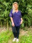 Tania blouse bohème grande taille bleu