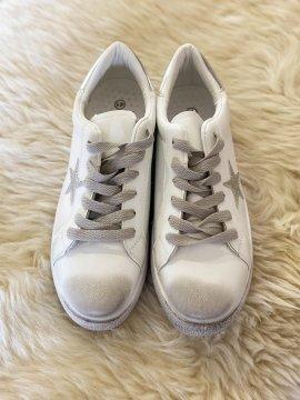 Baskets sneakers vintage étoile argent face