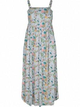 Marina, robe longue, grande taille, marque Zizzi bleu avant