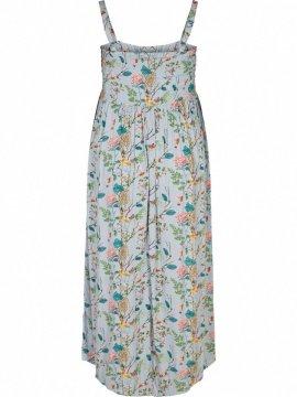 Marina, robe longue, grande taille, marque Zizzi  bleu dos
