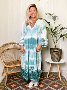 Nais, robe longue ty and dye, grande taille 564