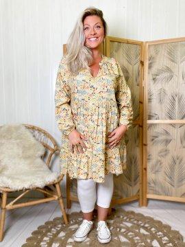 Bérénice robe grande taille imprimé fleuri  00556