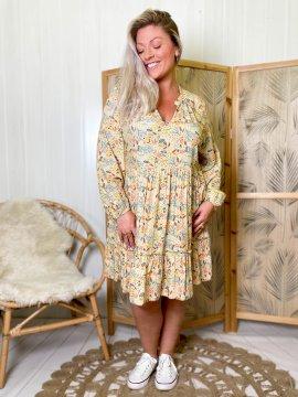 Bérénice robe grande taille imprimé fleuri  0088456