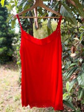 Caraco dentelle - rouge