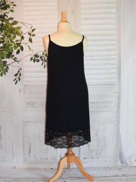 Fond de robe dentelle noir dos