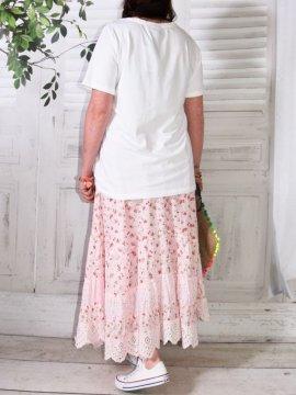 Jupon romantique, modèle framboise, marque Provencal Days rose dos