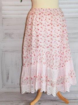 Jupon romantique, modèle framboise, marque Provencal Days rose zoom dos