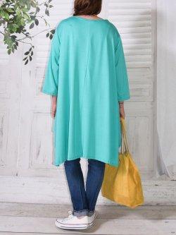 Juliette, tunique Lagenlook - turquoise