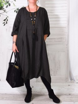 Margot, robe originale en lin