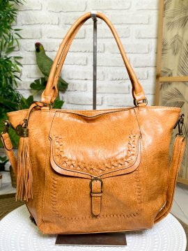 Sac Jeanne, coutures apparentes