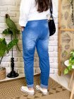 Zou, jegging jean froissé, grande taille dos