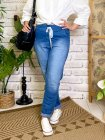 Zou, jegging jean froissé, grande taille profil