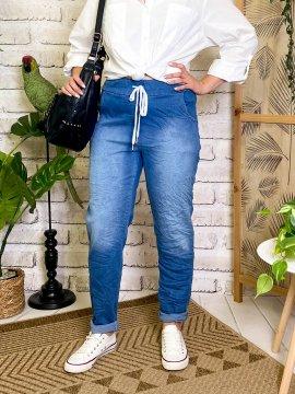 Zou, jegging jean froissé, grande taille avant