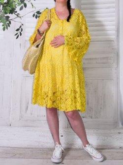 Adélie, robe dentelle bohème, Provencal Days - jaune
