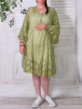 Adélie, robe dentelle bohème, Provencal Days vert avant
