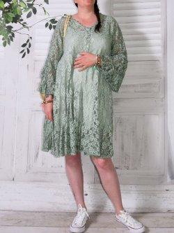 Adélie, robe dentelle bohème, Provencal Days - vert d'eau