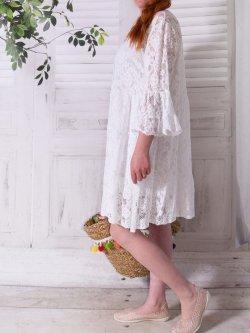 Adélie, robe dentelle bohème, Provencal Days - blanc