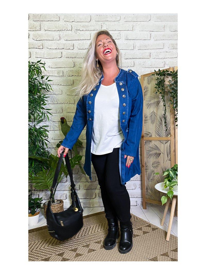 Adelie, redingote jean grande taille