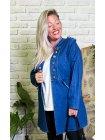 Adelie, redingote jean grande taille ouvert