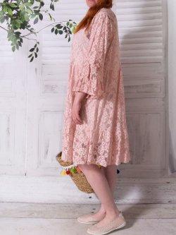 Adélie, robe dentelle bohème, Provencal Days - rose