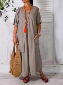 Robe Bali grande taille manche courte