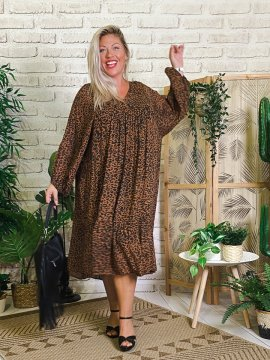 Robe Candy leopard, grande taille