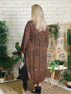 Robe Candy leopard, grande taille dos
