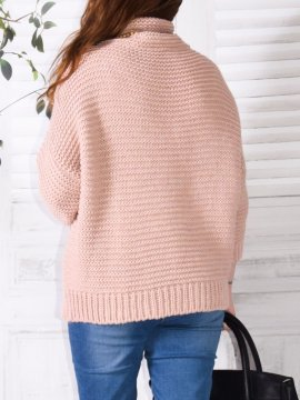 Pull Dingle, marque Lagenlook rose dos