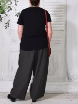 Hammamet, pantalon lin - anthracite