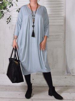 Bella, robe Lagenlook - gris