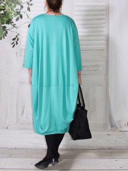 Bella, robe Lagenlook - turquoise
