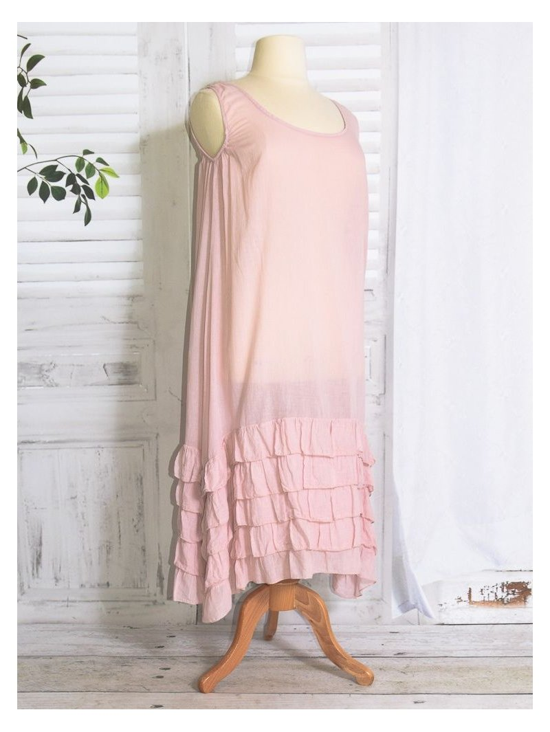 Esperanza fond de robe rose face