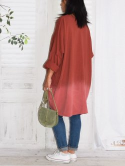 Manon, robe en sweat - Brique