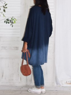 Manon, robe en sweat - Marine
