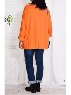 Nairobi, top original, Lagenlook - orange