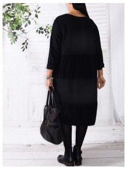Vancouver robe originale,  marque Lagenlook - noir