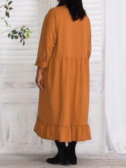 Alicia, robe lagenlook - camel