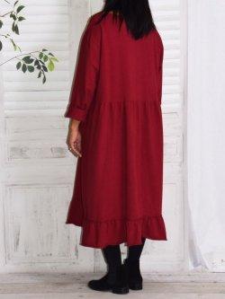 Alicia, robe lagenlook - bordeaux