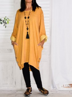 Sonia, robe tunique - jaune