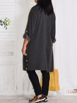 Sonia, robe tunique gris dos