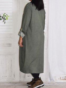 Sandra, robe originale, Lagenlook - kaki