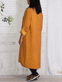 Sandra, robe originale, Lagenlook - jaune