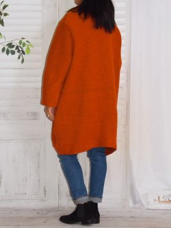 Manteau  en laine bouillie, Prague, marque Lagenlook - orange