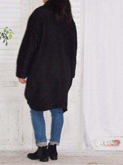 Manteau  en laine bouillie, Prague, marque Lagenlook - noir
