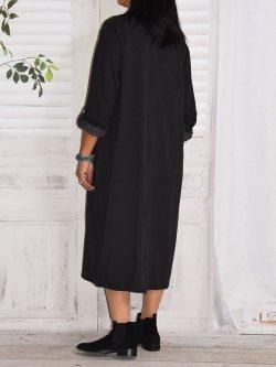 Sandra, robe originale, Lagenlook - anthracite