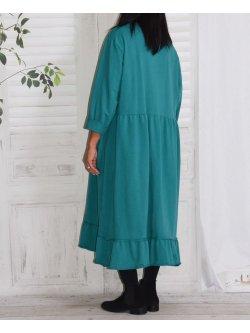 Alicia, robe lagenlook - turquoise
