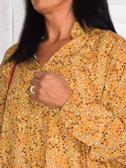 Anastasia, robe bohème - jaune